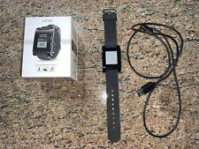 Pebble 301BL Rubber Band Smartwatch - Jet Black!