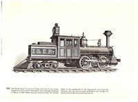 Rhode Island Forney Evansville 1880 /Porter Locomotive Saginaw engine print
