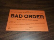 APRIL 1954 MILWAUKEE ROAD BAD ORDER CAR MUST NOT BE FORWARDED CARD