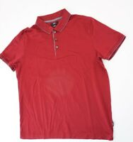 HUGO BOSS Mercerised Poloshirt Herren Gr.XL rot uni -S1194