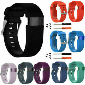1X Silicone Wristband Strap Replacement Watch Band For Fitbit Charge HR Tracker