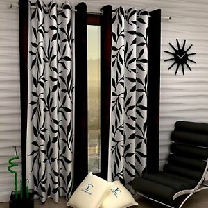 2 Pieces Home Decor Polyester Door Curtain 7Fit Set