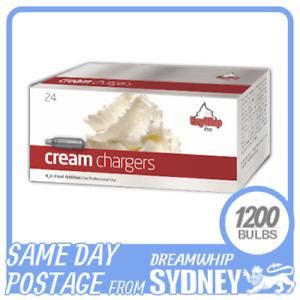 EZYWHIP PRO WHIPPED CREAM CHARGERS 24 PACK X 50 (1200 BULBS) N2O NITROUS OXIDE