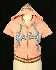 Ecko Red Peach Short Sleeve Hoodie Zip Up Jacket w Sequins Sparkle - Juniors Med