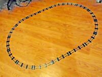 AMERICAN FLYER  16 PIECE OVAL CLEANED  TRACK .40'' x 60'' READY TO USE