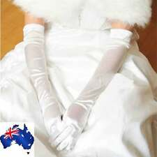 New Satin Long Gloves Wedding Bridal Evening Party Prom Costume Gloves White