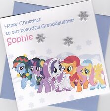 Personalised Handmade My Little Pony Christmas Card - Daughter, Sister, Niece