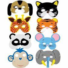 60x Animal Themed Foam Face Mask Masks Costume Jungle Party Kids Bag Fillers