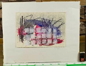 Friederike Caroline Bachmann *1961 Aquarell abstrakte Komposition Malerei 30x22