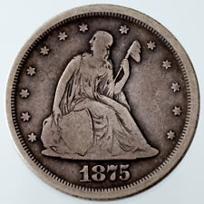 1875-S 20C Piece Good+ Condition, Strong Detail for Grade, Natural Color