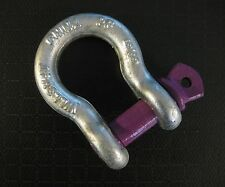 """2x 5/8"""" Shackle Screw Pin Clevis Anchor Bow Shackles f Sling Cable Chain Rigging"""