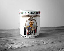 WWI German Patriotic Mug Kaiser Wilhelm II German Emperor and King of Prussia