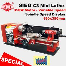 SIEG C3  180x350mm Mini Lathe 350W DC Motor Variable Speed FREE TURNING TOOL SET
