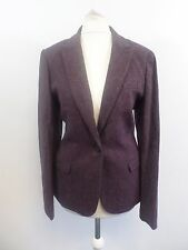 Jack Wills Fairlawn Blazer Damson Púrpura Size UK 10 RRP £ 179 Box46 62 M