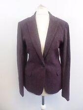Jack Wills Fairlawn Blazer Damson Purple Size UK 10 RRP £179 Box46 36 G