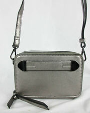 MELIE BIANCO Finn Metallic Silver PVC Camera Crossbody Bag Msrp $125.00
