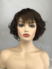 New Fashion Ladies Short Wig Wavy Curly Dark Brown Wigs Women