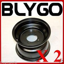 "2X Black 19X7.00- 8"" Inch Small 4 Stud Front Wheel Rim Quad Dirt Bike ATV Buggy"