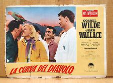 LA CURVA DEL DIAVOLO fotobusta poster The Devil's Hairpin Wilde Wallace BV31