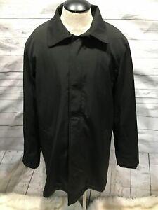Tumi Men Trench Coat size M Medium black T Tech b81