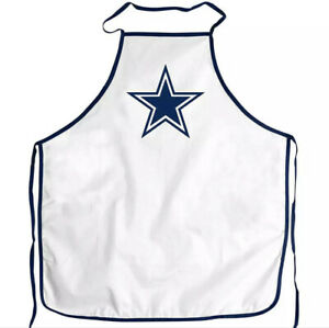NEW NFL Dallas Cowboys Chef Apron Brand New White Blue Star Football Cooking Bbq