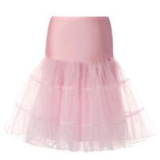 26'' 50s Vintage Petticoat Crinoline Underskirt Rockabilly Tutu Dress Skirt M L