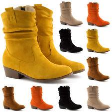 Neu Damen Stiefel Cowboy Boots Stiefeletten Western Schlupf 2038 Schuhe Gr 36-41