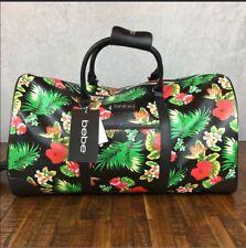 Bebe Aria Weekender Duffle Bag Tropical Floral Travel Strap Handles Retail $200