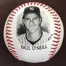 Paul O'Neill 1996 BURGER KING Give Away Photo Ball NY YANKEES BASEBALL Free S&H