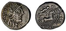 FANNIA DENARIUS-DENARIO FANIA. Ag. RSC 1. REPÚBLICA ROMANA. 123 a.C. VF+/MBC+.