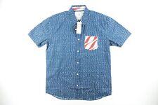 New listing Quicksilver Sz. Large S/S Hawaiian Shirt American Flag Usa Regular Fit Button