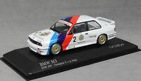 Minichamps BMW M3 E30 DTM Champion 1987 Eric van de Poele 433872002 1/43 NEW