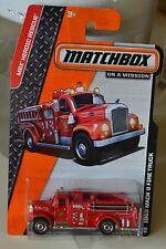MATCHBOX  1963 MACK B FIRE TRUCK  FIRE ENGINE #100/120 HEROIC RESCUE SERIES NEW