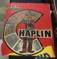 "Original circa 1920 unknown? ""Charlie Chaplin"" Movie festival Poster easy street"