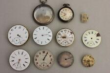 Taschenuhrenwerke + Uhrengehäuse + 1 graviertes Werk + 1 Eterna Werk 10 Teile