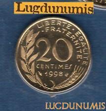 BU 1998 20 Centimes Marianne 1998 BU FDC Pièce Provenant du BU 25000 ex sous sce