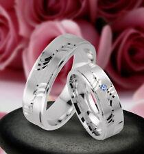 Trauringe Eheringe Verlobungsringe mit echten Blautopas , Silber 925 , J94-1B