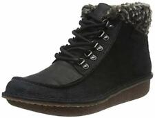 Clarks Ladies Lace-up Ankle Boot FUNNY GIRL Black Combi Leather UK 3.5 / 36