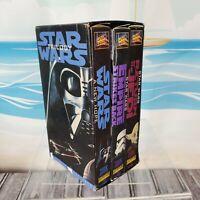 Star Wars Trilogy 3-Tape Set (VHS,1995) THX Digitally Mastered Lucas Film