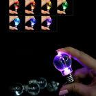Colorful Mini LED Flashing Light Bulb Crystal Key Ring Lamp Key Chain Random