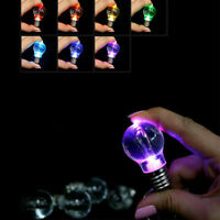 1PC Mini Cute Colorfu Color LED Key Chain Ring Light Bulb Lamp Gadget Gift