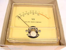 "NEW NOS Vintage Collins Radio 3"" VU Meter - Audio Console / Mic Mixer Amplifier!"