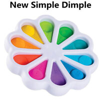 Fidget Simple Dimple Toy Educational Stress Relief Hand Toys Flowers Fidget Toy
