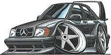 Cartoon Car T Shirt Mercedes 190e Cosworth Evo 2 Ii Dtm Racing Benz Sizes S 3xl