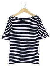 Ralph Lauren Womens Navy Breton Striped Top Size S (UK 8)