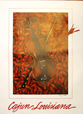 Crawfish Fiddle Cajun Louisiana Art Print New Orleans French Quarter Seafood
