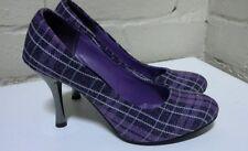 Ladies Hi Heel Purple Tartan SCZ11682PE35 SIZE 35