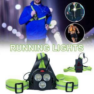 3W Rechargeable LED Running Chest Warning Light Torch on Foot Lamp Flashlight