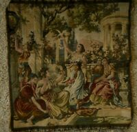 Vintage Made in Italy Tapestry Upholstery ? Women Wall Hanging Apx 18x19""