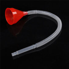 Red Flexible Car Motorcycle Funnel Spout Mesh Screen Strainer Gasoline`ZE